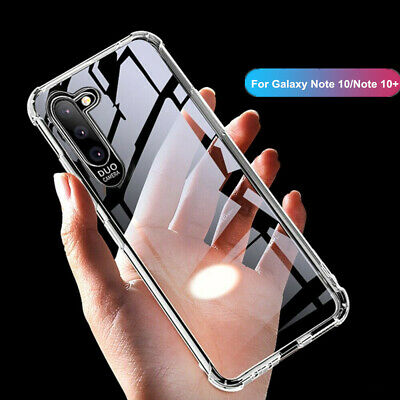 For Samsung Galaxy Note 10 Plus Shockproof Soft Clear Slim Rubber TPU Case Cover