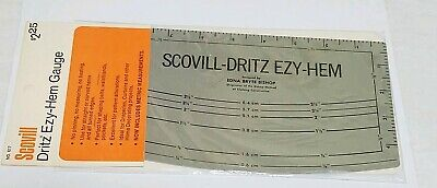 Vintage Dritz Ezy-Hem Edna Bryte Bishop Clothing Construction Measuring Hem Tool