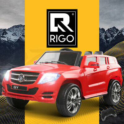 Rigo Kids Ride On Car Electric Black Toys Battery 12V Remote Children Cars