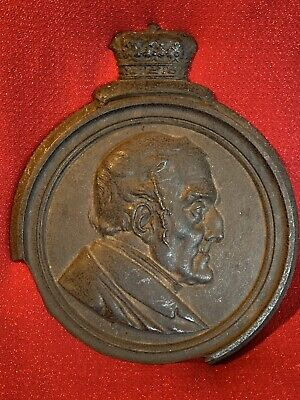 Antique IRON DUKE WELLINGTON Arthur Wellesley Victorian Cast Relief Plaque