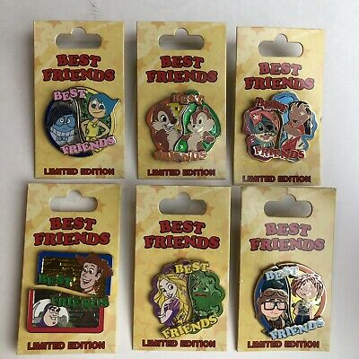 Disney Parks Best Friends Limited Edition Trading Pin Set
