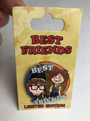 Disney Parks Best Friends UP Carl And Ellie Limited Edition Trading Pin
