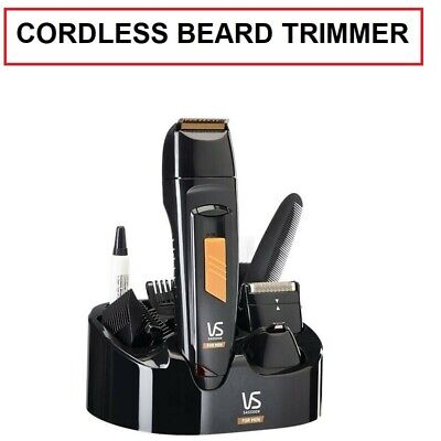 MENS BEARD TRIMMER Cordless Shaver with Attachments Nose Ear Hair Remover