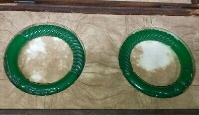 Chinese Chinese Qing Dynasty Court collection Green jade bracelet