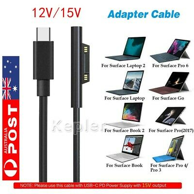 12/15V Connect To USB C Type Practical Adapter Charging Cable For Surface Pro3/4