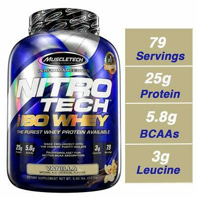 MuscleTech NitroTech Iso Whey Isolate Protein Powder