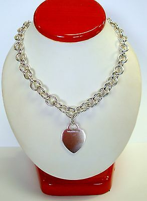 Tiffany And Co. 925 Gorgeous Sterling Silver Necklace And Bracelet Set