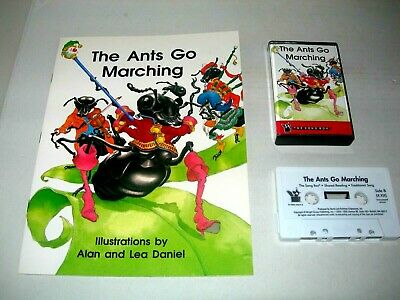 The Wright Group The Ants Go Marching Childrens Read Along Book & Cassette Tape