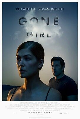 Gone Girl movie poster - Ben Affleck Poster, Rosamund Pike (2014)