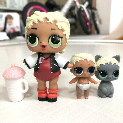 3Pcs LOL Surprise Doll M.C. SWAG Family with lil sister & pet GLITTER ATI Series
