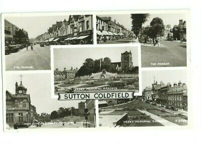Postcard Sutton Coldfield Parade Vessey Memorial Gardens  RP