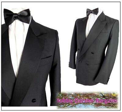 """Horne Brothers Black Double Breasted Tuxedo Dinner JACKET Ch42""""R"""