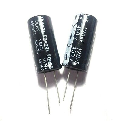 20PCS 450V 120uF 450Volt 120MFD Electrolytic Capacitor 18×35mm Radial