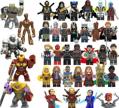 Avengers Minifigure Building Blocks Fits End Game Iron Man Captain Marvel
