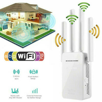 Wifi Extender Repeater Socket 300Mbps Dual-Band Wireless Router Range Booster UK