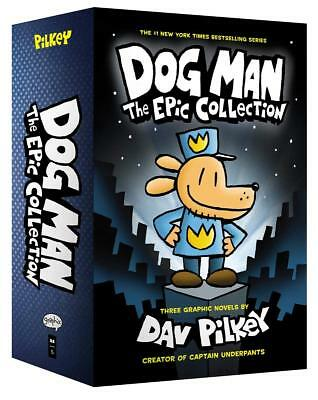 Dog Man (1-3)  The Epic Collection 3 Books Set By Dav Pilkey Hardcover NEW Pack