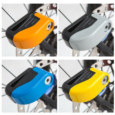 1x Bicycle Motorcycle Disc Brake Lock Press-Type With Two Keys Anti-Theft Alarm