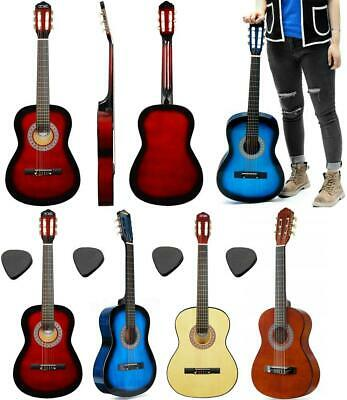 """38"""" Beginner Adult Student 4/4 Full Size Acoustic Guitar Starter Package Outfit"""