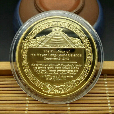 Golden Maya Civilization Totem Souvenir Commemorative Coin Collection Gifts Art