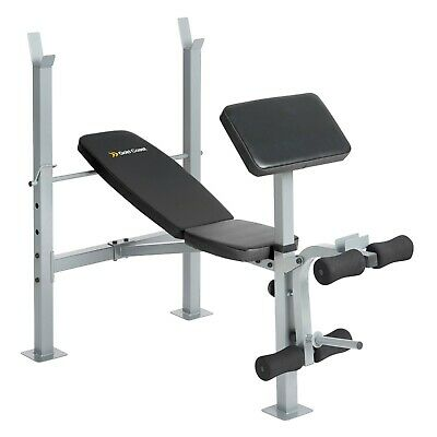 Gold Coast Multi Weight Bench | Adjustable Barbell Rack/Stand, Leg & Bicep Curl