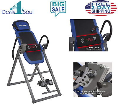 Advanced Heat Massage Therapeutic Fitness Chiropractic Inversion Table Back Pain