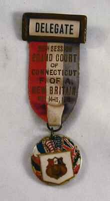1919 Ribbon Delegate Forester of America 20th Session Grand Court of Connecticut