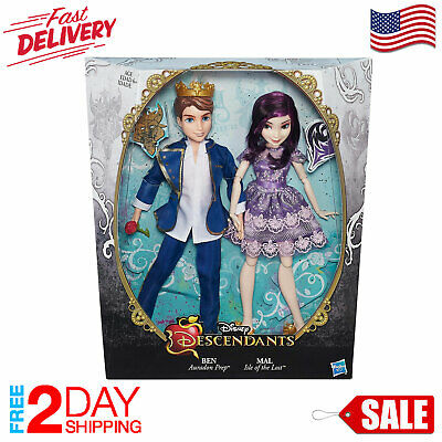 ❤️Original Disney Descendant TwoPack Mal Isle of Lost and Ben Auradon Prep Dolls