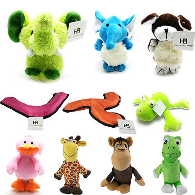Pet Puppy Dog Soft Plush Sound Chew Squeaker Squeaky Play Funny Toys Tool UK