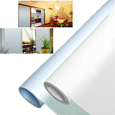 1x Bedroom Bathroom Privacy Window Film Static Cling Frosted Sticker PVC Frosted