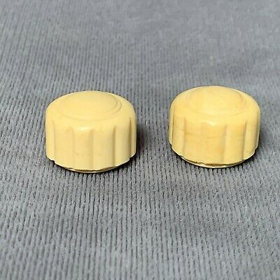FADA 1000 Set of 2 White Knobs- Repro Catalin Radio Parts Resin