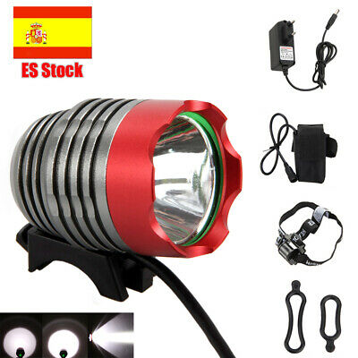 Carretera Bici LED Luz Frontal 8000LM Super Brillante Headlamp Batería Cargador