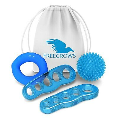 Freecrows - Toe Separators - Hand Grip Strengthener - Spiky Massage Ball Set