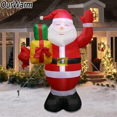 5.2ft 62in Large Santa Traditional Red Velvet Fabric Father Christmas Decoration