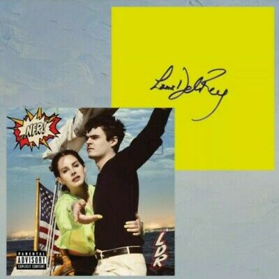 Lana Del Rey Nfr Norman Fucking Rockwell Signed Cd Insert Card **Sealed**