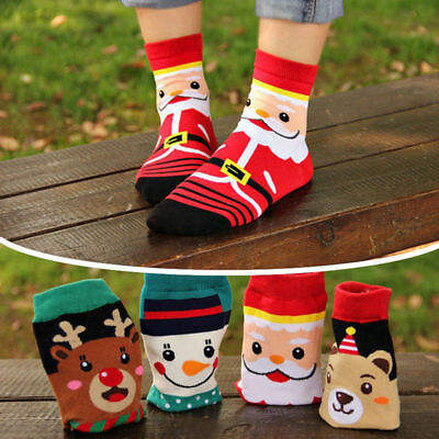 Womens Girls Christmas Cotton Soft Cosy Bed Socks Novelty Warm Kids Gifts Xmas