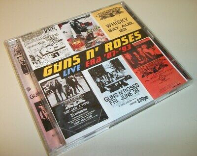 GNR Guns n' Roses Live Era '87-'93 2 CDs Discs Case, Artwork 1999 Geffen Records