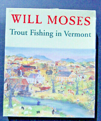 """Will (Grandma) Moses """"Trout Fishing in Vermont"""" 1000 Piece Oil Painting 24 x 30"""""""