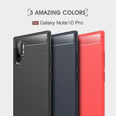 For Samsung Galaxy Note 10 Plus Note 10 Carbon Fiber Rubber Slim Case Back Cover