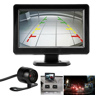 "Car Backup Camera Rear View System Waterproof IP67 + 4.3"" TFT LCD Monitor CHH"