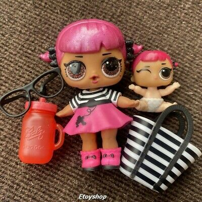 With mini PET LOL Surprise Dolls Big Sisters Glam Glitter CHERRY Authentic toys