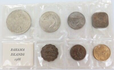 1966 Bahamas 7 Coin Unc Set.