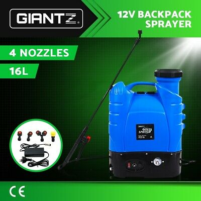 Giantz 16L Weed Sprayer Electric Rechargeable Battery Backpack Farm Pump Spray