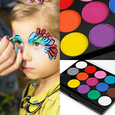Face Paint Kit With 15 Colors pigment for painting ,12 Artist Painting  Brushes
