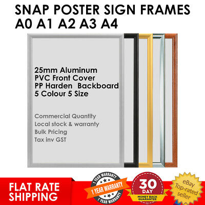 Snap Frames Aluminum Poster Sign Holder Picture A0 A1 A2 A3 A4 Retail FLAT RATE