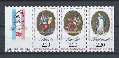 FRANCE - 1989 YT T2576 bande - TIMBRES NEUFS** MNH LUXE