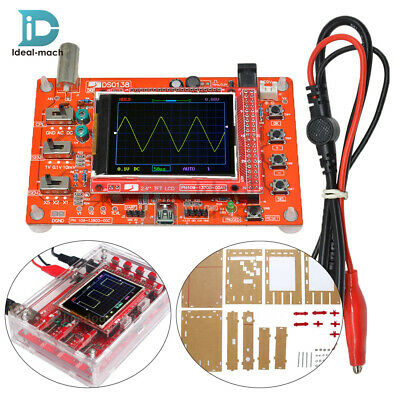 "Soldered DSO138 2.4"" TFT Digital Oscilloscope + Acrylic Case DIY Kit SMD"