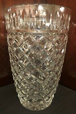 "Fifth Avenue Crystal Vase- 9"" Tall Extra Heavy Beautifully Cut"