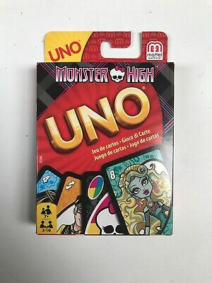 Monster High Uno Card Game - BRAND NEW AND UNUSED WITH INSTRUCTIONS 2-10 PLAYERS