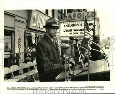 "1992 Press Photo Actor Denzel Washington stars in the film ""Malcolm X"""