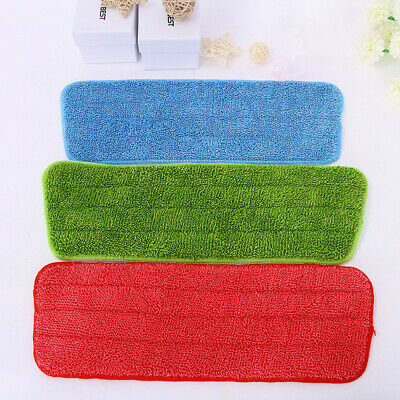 Replacement Microfiber Washable Head Mop Pads Fit Flat Spray Mops 3Pcs
